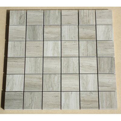 Teakwood 2 x 2 Porcelain Mosaic Tile in Matte Gray