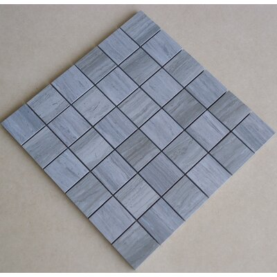 Teakwood 2 x 2 Porcelain Mosaic Tile in Matte Blue/Green