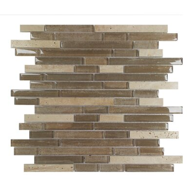 Palisades Random Sized Glass Mosaic Tile in Beige