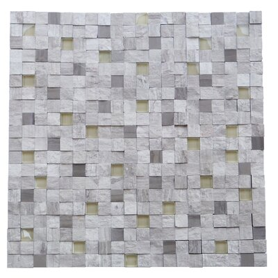 Avenue 0.5 x 0.5 Engineered Stone Splitface Tile in Gray