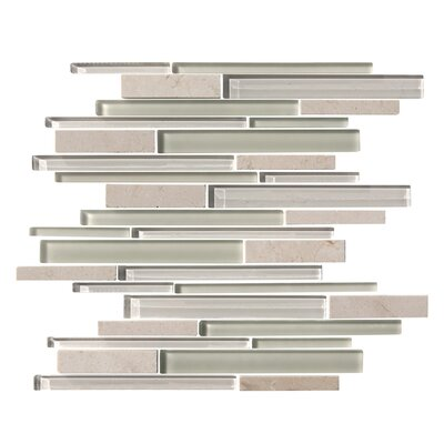 Marbella Random Sized Marble Stone and Glass Mosaic Tile in 5 Color Blend