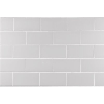 Classic 3 x 6 Ceramic Subway Tile in Warm Gray