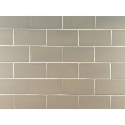 Classic 3 x 6 Ceramic Subway Tile in Light Taupe