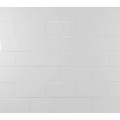Classic 3 x 6 Ceramic Subway Tile in White