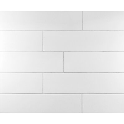 Classic 4 x 16 Ceramic Subway Tile in Cool White
