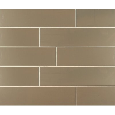 Classic 4 x 16 Subway Tile in Dark Taupe