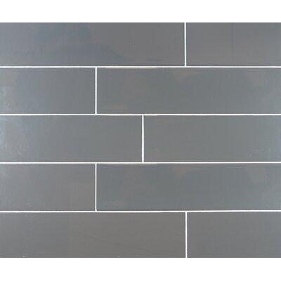 Classic 4 x 16 Ceramic Subway Tile in Dark Gray