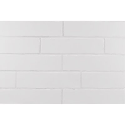 Hills Wavy Edge Subway Tile in Glossy White