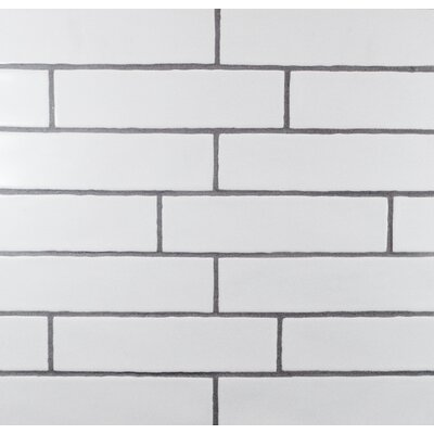 Hills Wavy Edge 3 x 12 Subway Tile in Matte White
