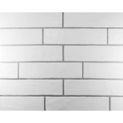 Loft Wavy Edge 4 x 16 Subway Tile in White