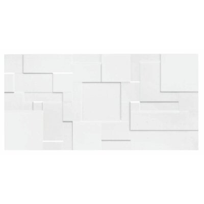 Form Patchwork 10 x 20 Ceramic Field Tile in Glossy White