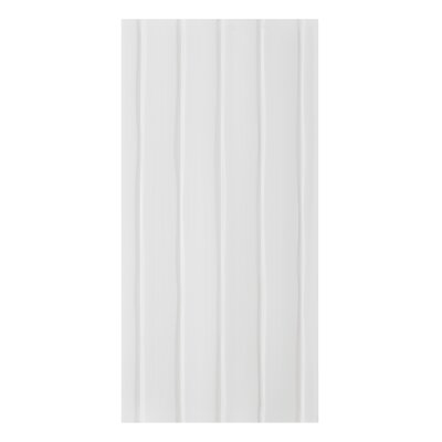 Conran Flow 10 x 20 Ceramic Wall Tile in Satin White