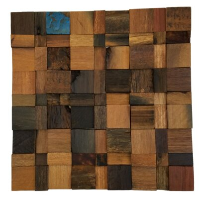 12 x 12 Wood Square Origin Mosaic Decorative Accents