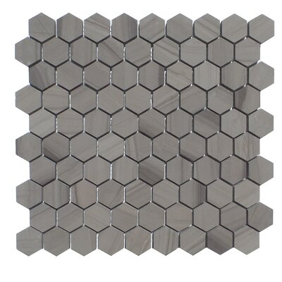 1.25 x 1.25 Natural Stone Mosaic Tile in Athens Gray