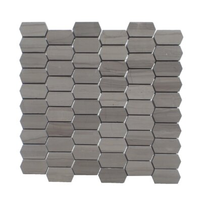 Honeycomb Honed 1 x 2  Natural Stone Mosaic Tile in Athens Gray