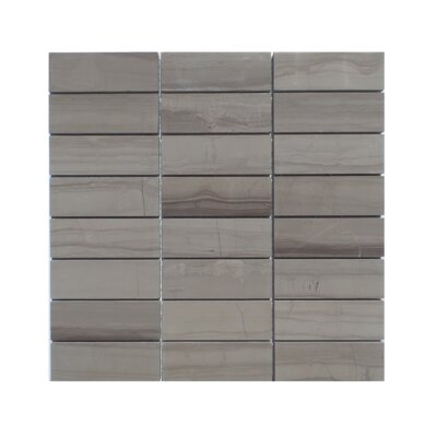 Stacked Honed Natural Stone Mosaic Tile in Athens Gray