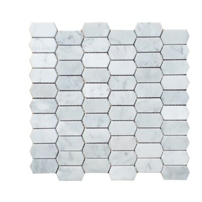 Honeycomb Honed 1 x 2 Natural Stone Mosaic Tile in Carrara