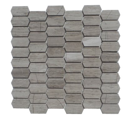 Honeycomb Honed 1 x 2 Natural Stone Mosaic Tile in Escarpment Light