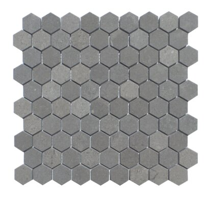 1.25 x 2  Natural Stone Mosaic Tile in London Ash
