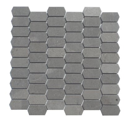 Honeycomb Honed 1 x 2 Natural Stone Mosaic Tile in London Ash