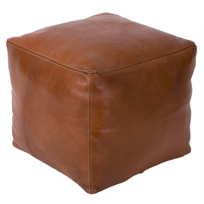 Moroccan Leather Pouf Upholstery: Tobacco