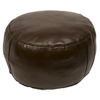 Seth Leather Pouf Upholstery: Chocolate Brown