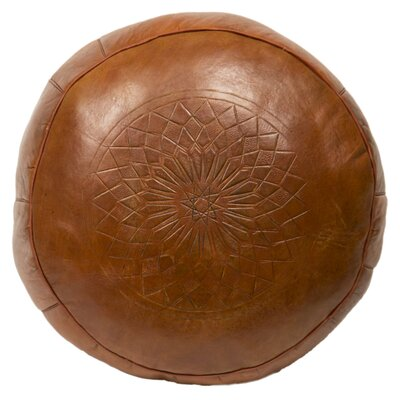 Seth Leather Pouf Upholstery: Tobacco