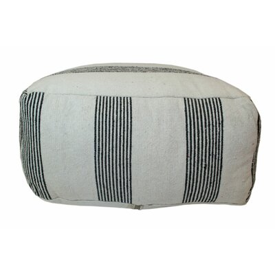 Moroccan Pouf Upholstery: Black / White
