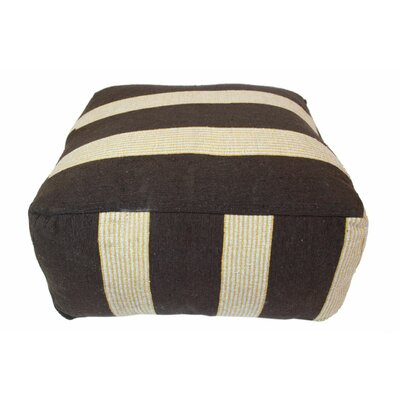 Moroccan Pouf Upholstery: Chocolate / Beige