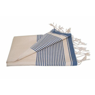 Moroccan Throw Color: Cream / Blue