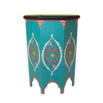 Tangier End Table Color: Teal