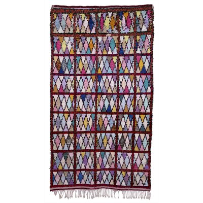 Boucherouite Azilal Hand-Woven Purple/Red Area Rug
