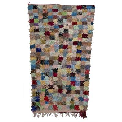 Boucherouite Azilal Hand-Woven Gray/Blue Area Rug