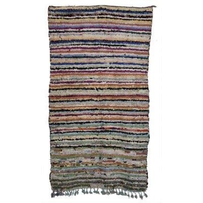 Boucherouite Azilal Hand-Woven Ivory Area Rug