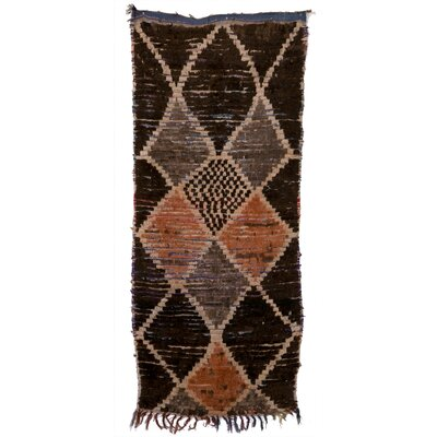 Boucherouite Azilal Hand-Woven Chocolate/Brown Area Rug