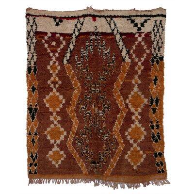 Boucherouite Azilal Hand-Woven Brown Area Rug