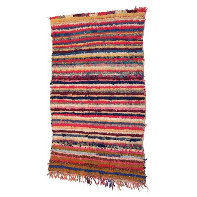 Boucherouite Azilal Hand-Woven Red/Orange Area Rug