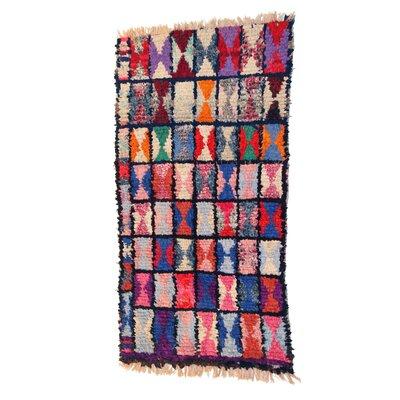 Boucherouite Azilal Hand-Woven Pink/Purple Area Rug