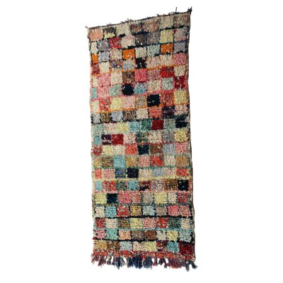 Boucherouite Azilal Hand-Woven Brown/Orange Area Rug