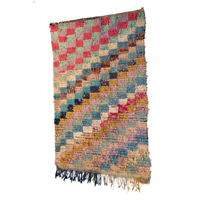 Boucherouite Azilal Hand-Woven Brown/Pink Area Rug