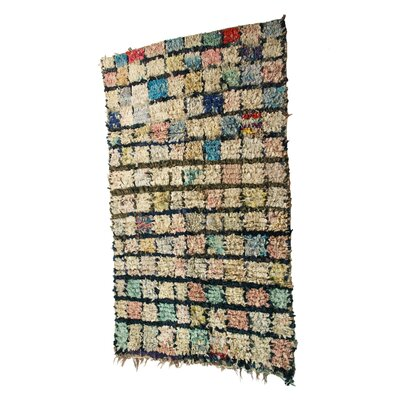 Boucherouite Azilal Hand-Woven Olive/Green Area Rug