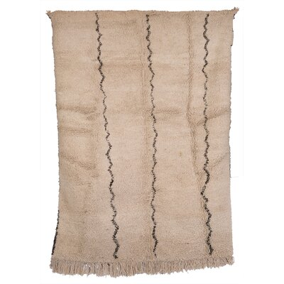 Beni Ourain Hand-Woven Brown Area Rug