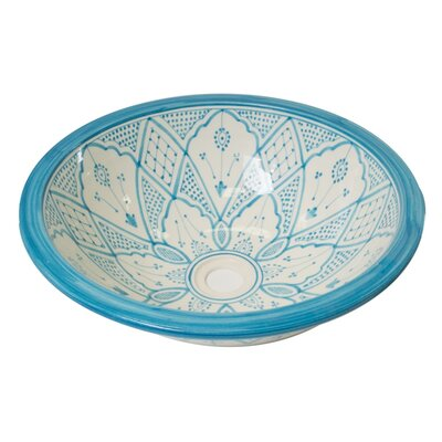 Ceramic Circular Undermount Bathroom Sink Sink Finish: Turquois