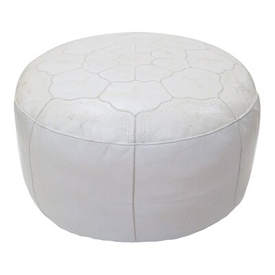 Leather Ottoman Upholstery: White