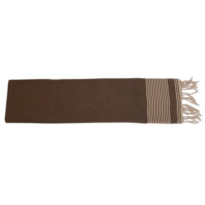 Moroccan Throw Color: Cream / Brown