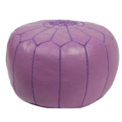 Leather Ottoman Upholstery: Violet
