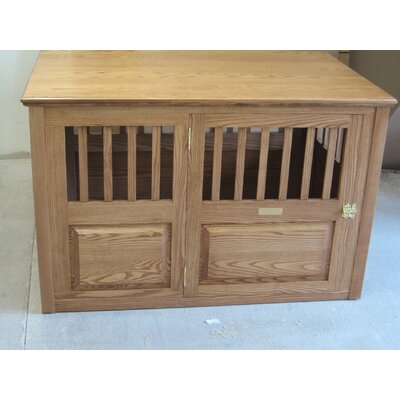 Handmade Furniture-Style Pet Crate Size: Large (30 H x 29.25 W x 45.25 L), Color: Medium Walnut, Door: Right Side Door