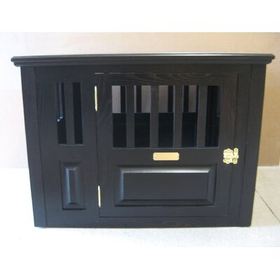 Handmade Furniture-Style Pet Crate Size: Medium (27 H x 25 W x 40 L), Color: Espresso, Door: Right Side Door