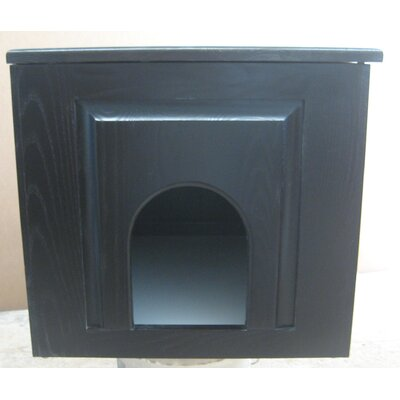 Raised Panel Litter Box Concealment Cabinet Side Opening: Left, Finish: Espresso