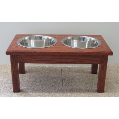 2 Bowl Pet Diner Finish: Cherry
